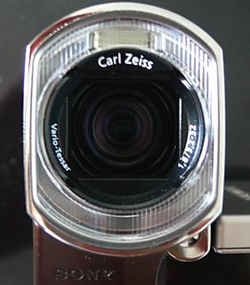 Sony HDR-TG1 Lense